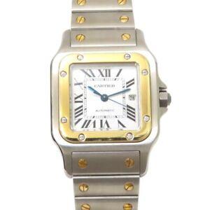 Cartier Watch Santos galbee LM Men's Automatic 18K Gold St.Steel Date