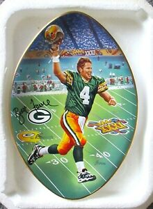 "BRETT FAVRE COLLECTORS PLATE ""BACK TO TITLETOWN""  SUPERBOWL BRADEX PACKERS NFL"