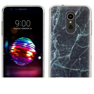 For LG Premier PRO LTE / K30 TPU Case - Marble / Blue