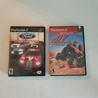 ATV Offroad Fury & Ford Racing 2 PS2 Game Lot of 2, Complete