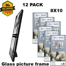12 PACK 8x10 Picture Frame Set stands for wall Tabletop display Black frames