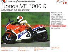 HONDA VF 1000 R ( VF1000 R ) 1984 Fiche Moto 000191