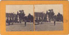 Bordeaux Place Tourny France STEREO Vintage Argentique ca 1900