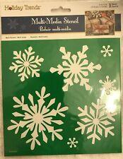 "SNOWFLAKES STENCIL CHRISTMAS SNOWFLAKE STENCILS TEMPLATE TEMPLATES CRAFT 7"" X 7"""