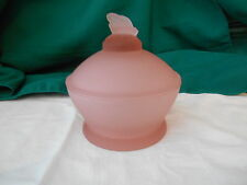 Lenox Imperial Pink Frosted Candy Dish with Bumble Bee Handle