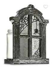 BATH AND BODY WORKS HALLOWEEN SPOOKY WINDOW  SINGLE WICK CANDLE HOLDER NIB
