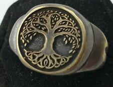 The tree of life Celtic -  Ancient  Bronze Ring-Vintage-Antique ROMAN-RARE