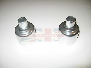 "New Pair of Polished Dashpot Covers for 1 1/4"" SU MG Midget Austin Healey Sprite"