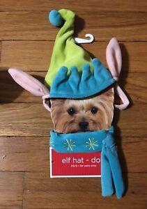NWT Dog ELF Hat & Scarf XS-S