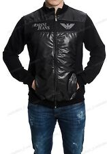 Emporio Armani Men's Modern Track Jacket T-Shirt Black Color size Large BNWT