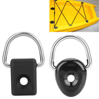 2Pcs Canoe Kayak D Ring Loop Deck Boat Fitting Fishing Rigging Bungee Accessory