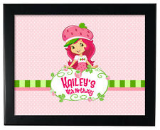 1 Strawberry Shortcake Birthday Party Favor Personalized 8x11 inch Wall Print