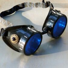 Steampunk goggles Victorian glasses novelty costume welding lens goth GGG -black