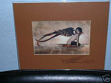 Amy Brown - Rust Angel - Matted Mini - Signed