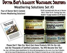 Weathering Solution SET #3 & How-To Booklet Doctor Ben's Craftsman PLASTIC.RESIN