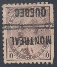 "Canada Scott #93xx 10 cent brown lilac PRECANCELLED ""King Edward VII"""