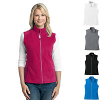 Ladies Womens Zip Fleece Vest Fall Winter Clothing Outdoors Fleece XS-4XL L226