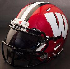 *Custom* Wisconsin Badgers Ncaa Riddell Speed Full Size Replica Football Helmet