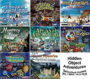 1000+ Hidden Object Adventure Games PC Windows XP Vista 7 8 10 MAC OSX 10.3-10.9