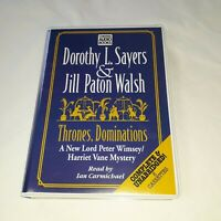 Dorothy L Sayers jill paton welsh Thrones Dominations 8 audio cassettes audio