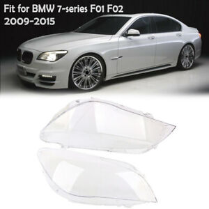 Pair Headlight Headlamp Lens Cover For BMW F01 F02 740i 740Li 750i 750Li 09-15