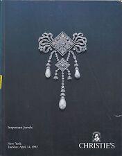 CHRISTIE'S JEWELS Oscar Heyman Schlumberger Mauboussin Traber Webb Catalog 1992