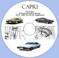 Ford Capri  Factory Workshop Manual  1974 - 1987 Inc 2.8 inj. Supplement