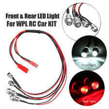 Front + Rear 4 LED Light Headlight Spare Parts For WPL KIT RC Car Military Truck