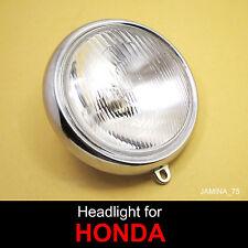 Honda CB125 S S1 S2 CL125 S S1 CL125A Headlight Head Lamp 6 V. Bulb + Rim NEW