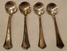 Lot 4 Salt Spoons Washington Pattern by R. Wallace & Sons