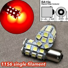 2X RED LED Rear Signal Light S25 1156 BA15S 3497 1141 27 for BMW