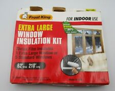 """Frost King Indoor Extra Large Window Insulation Kit 62"""" x 210"""" V75 New Open Box"""