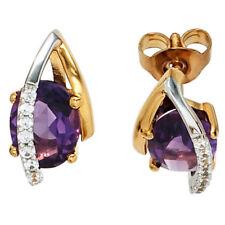 Diamant Ohrschmuck mit natürlichem echten Edelsteinen für Damen