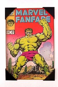 Marvel Fanfare #29 Hulk Comics Silver Buffalo Wood Wall Decor / Art Avengers