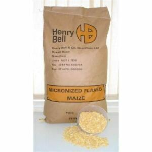 Henry Bell & Co Micronized Flaked Maize 20kg Fishing Bait Bulk Ingredients