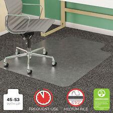 Deflecto SuperMat Frequent Use Chair Mat Medium Pile Carpet Beveled 45x53 w/Lip