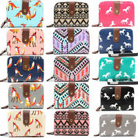 Ladies Women Designer Oilcloth Purse Wallet Girls Coin Purse Bag