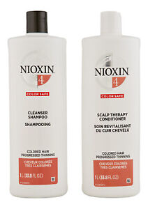 Nioxin System 4 Cleanser & Scalp Therapy Conditioner 33.8 oz. Hair Care Set