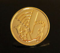 Pin AIR FRANCE round logo Pin for Pilots Crew Sea Horse gold