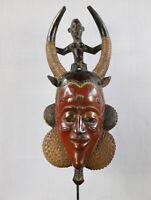 AJ6 Guro Baule Maske alt Afrika / Masque Gouro ancien / Old tribal mask Africa