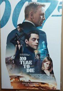 ORIGINAL No time To Die DS 27x40 POSTER Daniel Craig 007 James Bond Int'l 2021