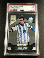 LIONEL MESSI 2014 PANINI PRIZM #12 WORLD CUP PSA 9 MINT ARGENTINA (8590)