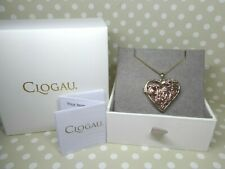 "Clogau Gold, 9ct Yellow & Rose Gold Fairy Heart Locket, 18"" Chain RRP £1100"