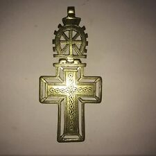 ANTIQUE COPTIC CROSS AMULET PENDANT