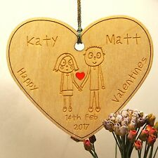 Personalised Valentines Gift Wedding Anniversary Hanging Heart Engagement Gift