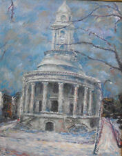 GLENN STUART PEARCE Listed PHILADELPHIA CITYSCAPE Oil-Canvas c.1960