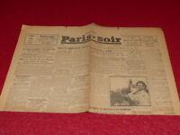 [PRESSE WW2 GUERRE 39/45] PARIS-SOIR (Toulouse) # 7176 26 AOUT 1943 Très Rare!!