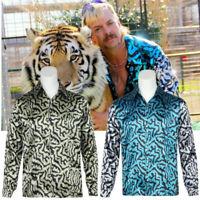 Tiger King Joe Exotic Cosplay Costume Adult Men Shirt Halloween Outfit