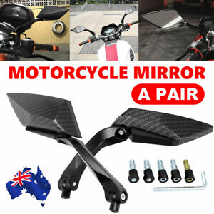 2x Universal Adjustable Motorcycle Scooter Side Rear View Bar End Mirrors Black