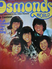 OSMONDS WORLD MAGAZINE ISSUE 10 AUG 1974